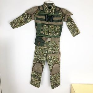 Halloween Costume Childs Military Army Size 5-6